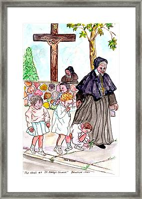 The Nuns Of St Marys Framed Print by Philip Bracco