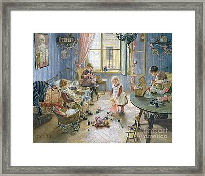 The Nursery Framed Print by Fritz von Uhde