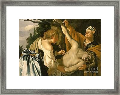 The Nursing Of Saint Sebastian Framed Print by Theodore van Baburen