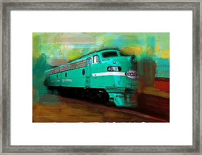 Flash II  The Ny Central 4083  Train  Framed Print by Iconic Images Art Gallery David Pucciarelli
