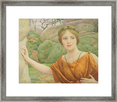 The Nymph Framed Print by Thomas Cooper Gotch