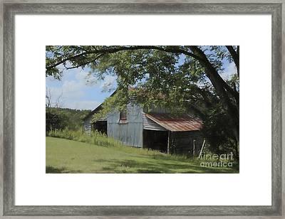 The Oak Branch Barn Framed Print by Benanne Stiens