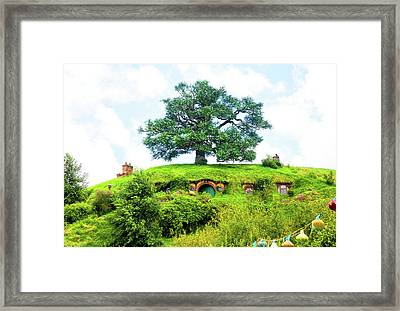 The Oak Tree At Bag End Framed Print
