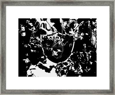 The Oakland Raiders 1a Framed Print by Brian Reaves