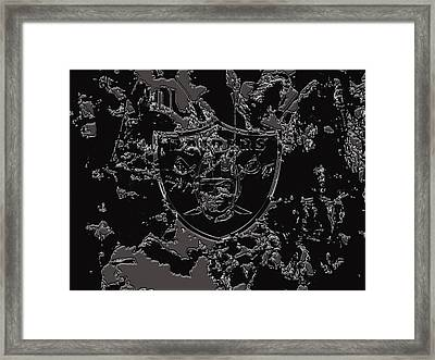 The Oakland Raiders 1b                                    Framed Print by Brian Reaves