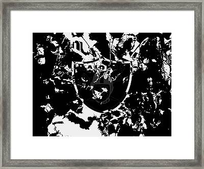 The Oakland Raiders 1d                                    Framed Print by Brian Reaves