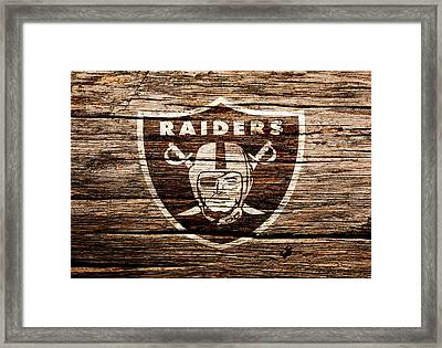 The Oakland Raiders 1f Framed Print by Brian Reaves