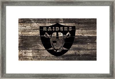 The Oakland Raiders 2w Framed Print by Brian Reaves