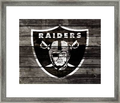 The Oakland Raiders 3a Framed Print by Brian Reaves