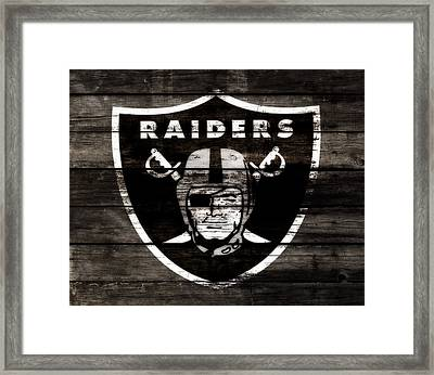 The Oakland Raiders 3b Framed Print by Brian Reaves