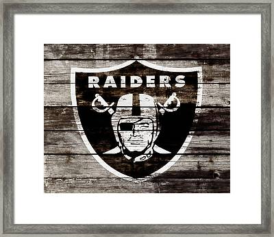 The Oakland Raiders 3e Framed Print by Brian Reaves