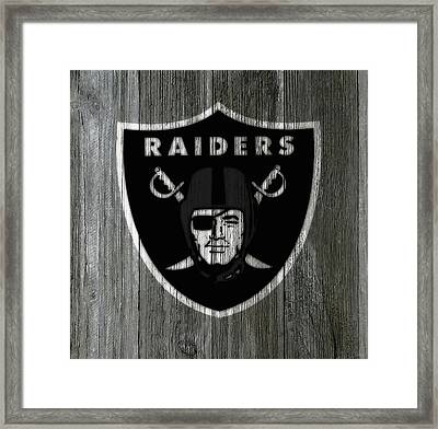 The Oakland Raiders 5a Framed Print by Brian Reaves