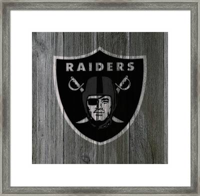 The Oakland Raiders 5b Framed Print by Brian Reaves