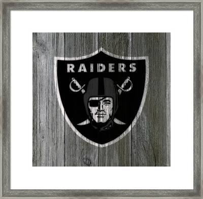 The Oakland Raiders 5c Framed Print by Brian Reaves
