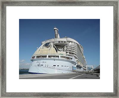 Framed Print featuring the photograph The Oasis Of The Seas At Port Canaveral by Bradford Martin