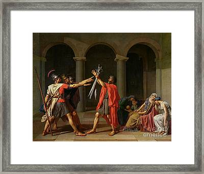The Oath Of Horatii Framed Print