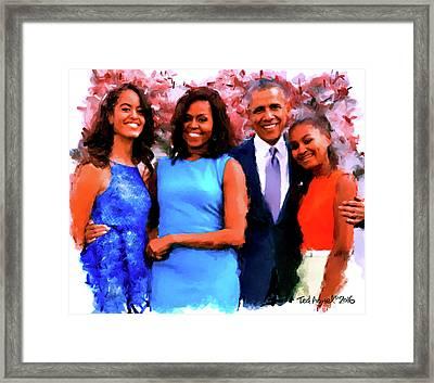The Obama Family Framed Print