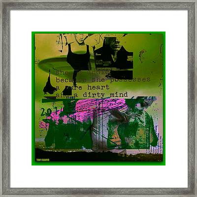 The Obnoxious Saucer Framed Print by Tony Adamo