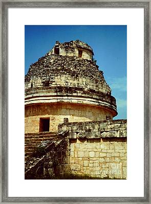 The Observatory El Caracol Framed Print by Roy Anthony Kaelin