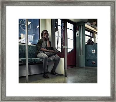 The Observer Framed Print by Michel Verhoef