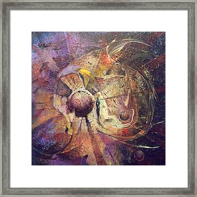 The Obstinate Particle Framed Print by Fred Wellner