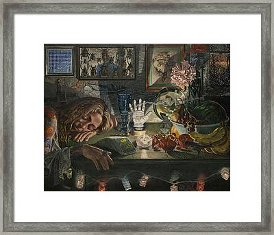 The Occultist Framed Print by Fremont Thompson