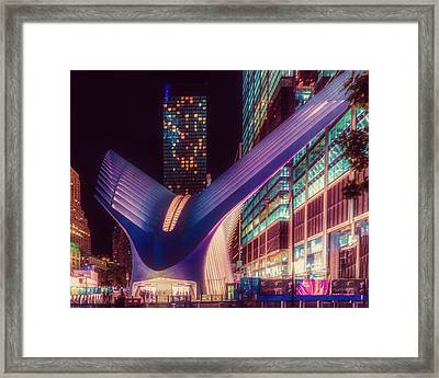 Framed Print featuring the photograph The Occulus At Midnight by Chris Lord