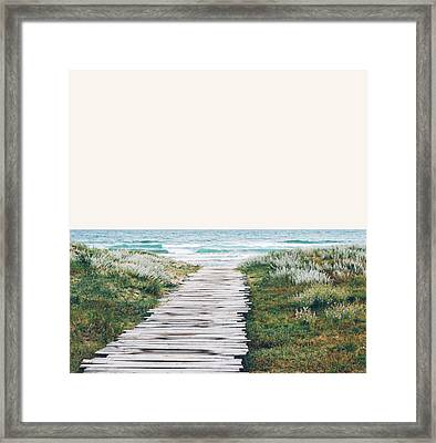 The Ocean Is Calling And I Must Go  Framed Print by Uma Gokhale