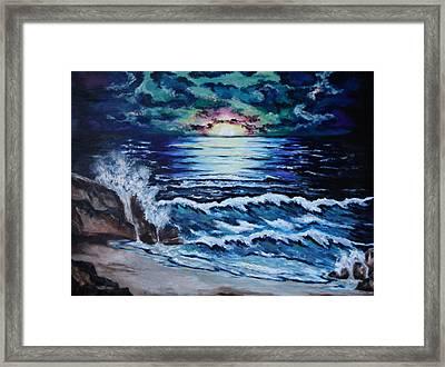 The Ocean Sings The Sky Listens Framed Print by Cheryl Pettigrew