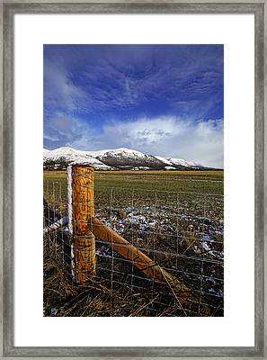 Framed Print featuring the photograph The Ochils In Winter by Jeremy Lavender Photography