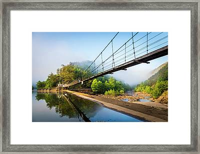 The Ocoee River Dam Framed Print by Debra and Dave Vanderlaan