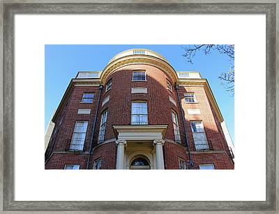 The Octagon House Framed Print