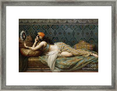 The Odalisque Framed Print by Adrien Henri Tanoux