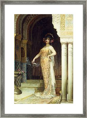 The Odalisque Framed Print by Edouard Frederic Wilhelm Richter