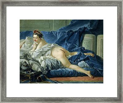The Odalisque Framed Print by Francois Boucher