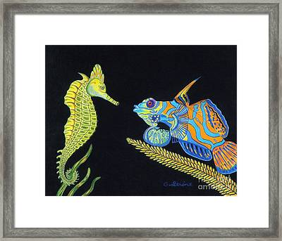 The Odd Couple Framed Print by Gerald Strine