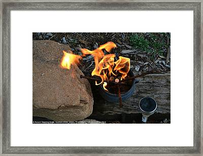 ''the Offering #1'', Sun--25may2014 Framed Print by Robert 'Standing Eagle'