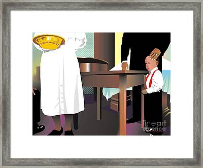 The Offering Framed Print by Walter Oliver Neal