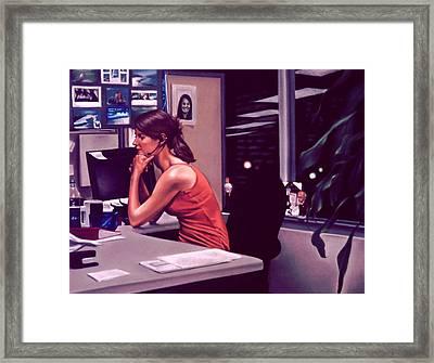 The Office Framed Print by Glenn Bernabe