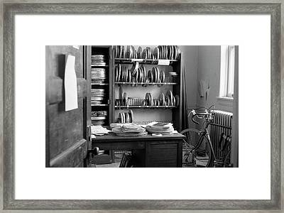 The Office Of A Teaching Assistant, 1979 Framed Print