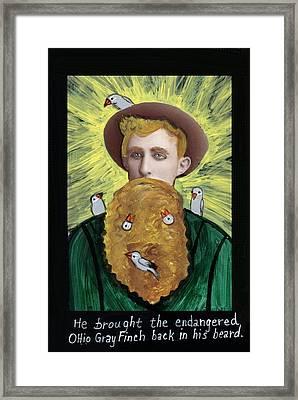 The Ohio Finch Savior Framed Print