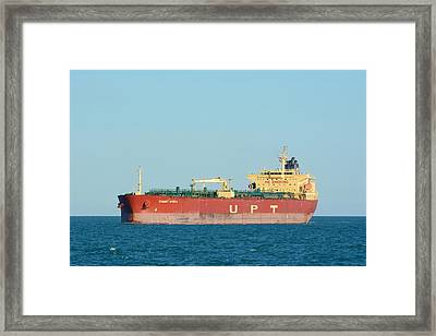 Framed Print featuring the photograph The Oil Tanker Summit Africa by Bradford Martin