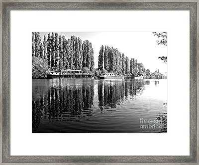 The Oise At Auvers Framed Print by Alex Cassels