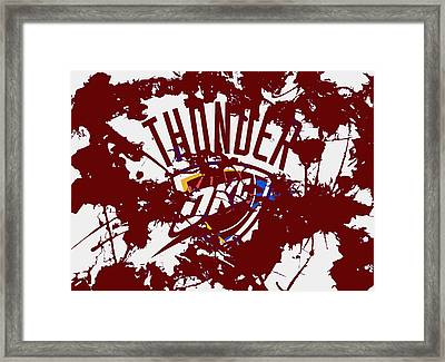 The Oklahoma City Thunder 1a Framed Print