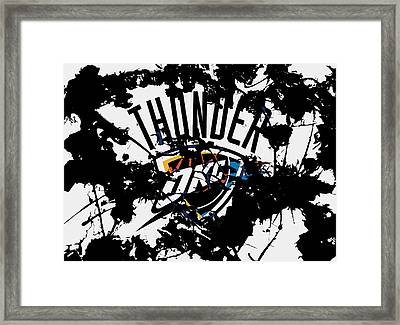 The Oklahoma City Thunder Framed Print
