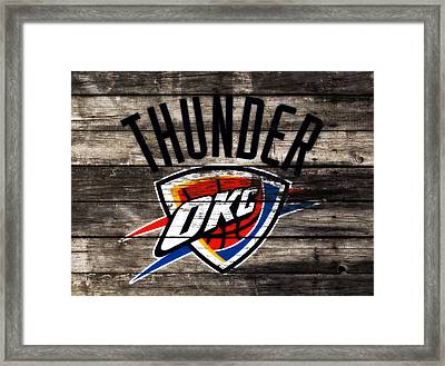 The Oklahoma City Thunder W10           Framed Print