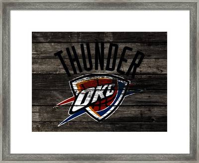 The Oklahoma City Thunder W7           Framed Print