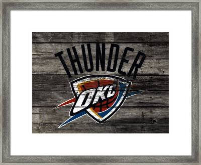 The Oklahoma City Thunder W8           Framed Print