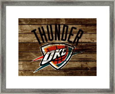 The Oklahoma City Thunder W9           Framed Print