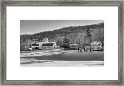 The Ol Homestead Bw Framed Print